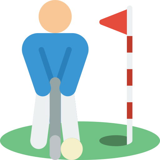 Playing golf or mini golf
