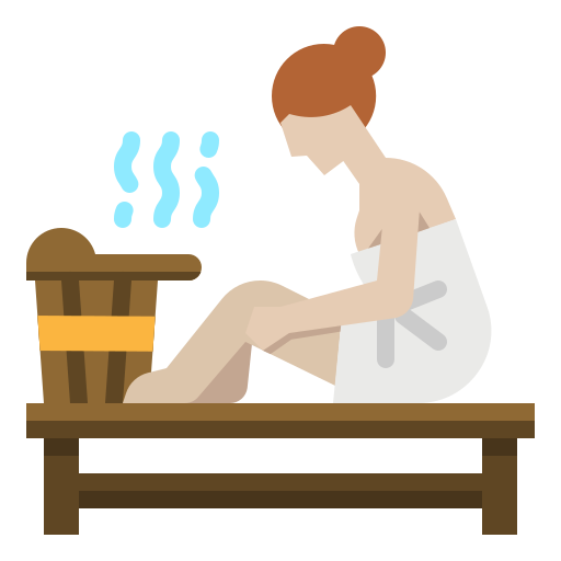 Having steam or sauna