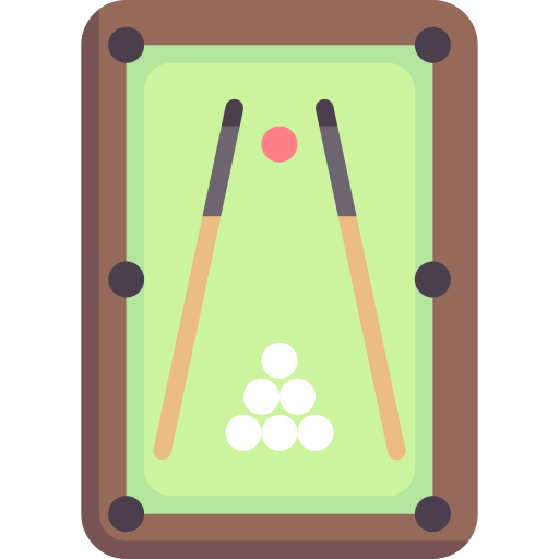 Playing pool table