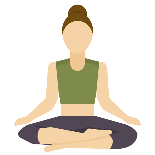 Doing yoga or meditation