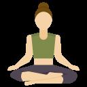 Doing yoga or meditation